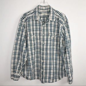 LUCKY BRAND Plaid Button Up Casual Shirt XXL